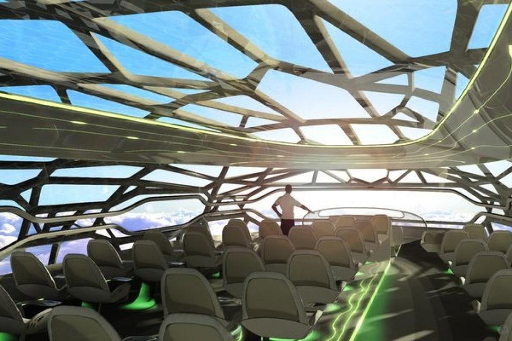 L'aereo del 2050: trasparente e multimediale