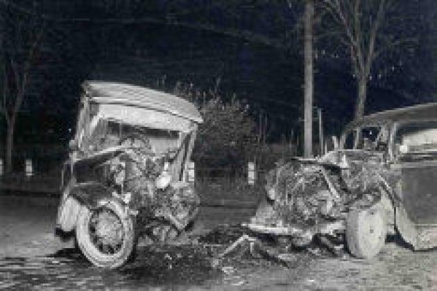 Un crash test del 1920