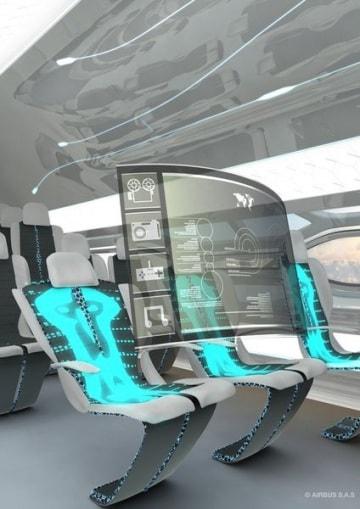 A bordo dell'aereo del futuro
