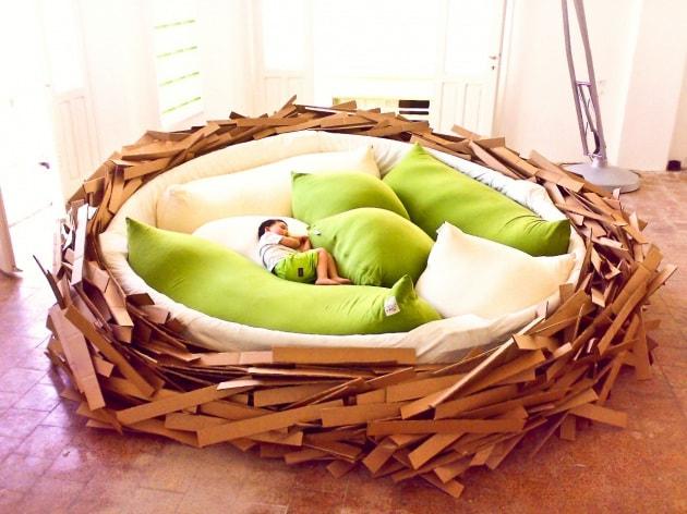 Il lettone a forma di nido