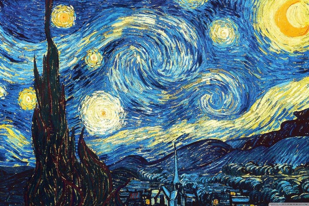 Effetto domino: le tessere disegnano la Notte stellata di Van Gogh