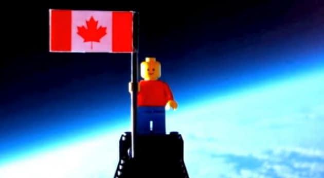 Il viaggio spaziale di un omino di Lego
