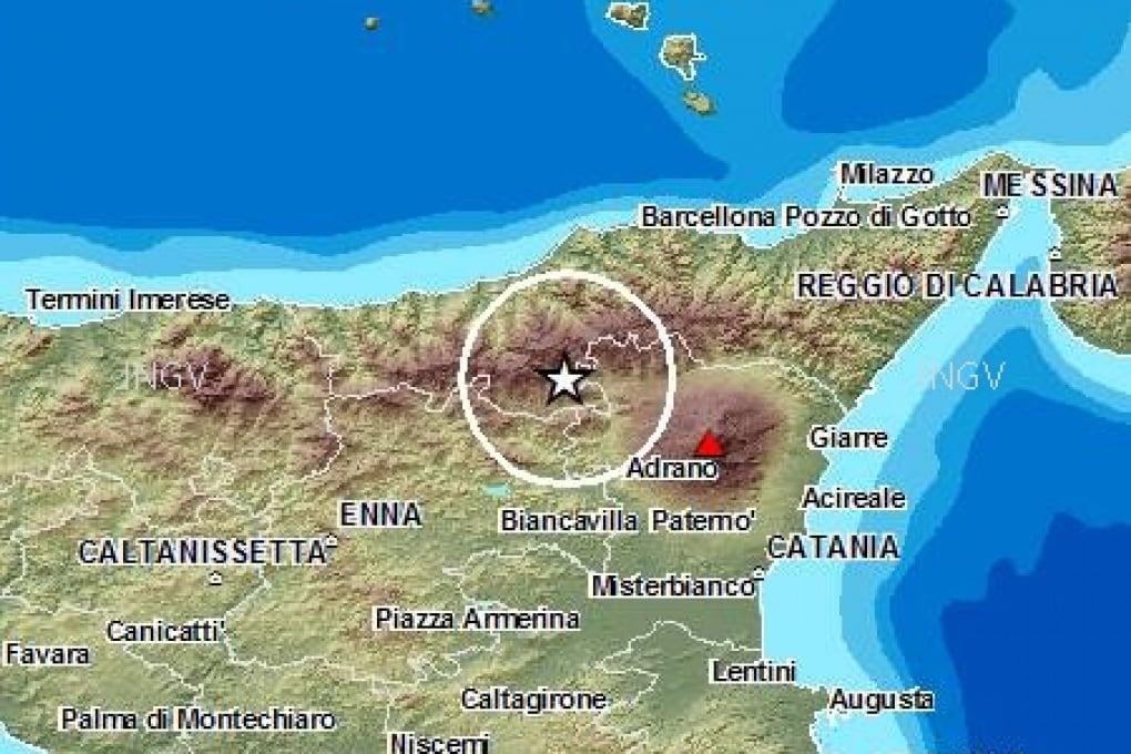 Terremoto di magnitudo 4.3 nel catanese