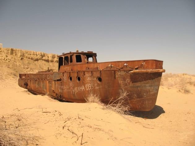 Il Lago d'Aral è quasi scomparso
