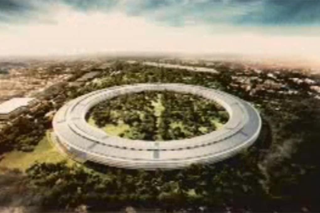 Nuovi uffici Apple come un'astronave