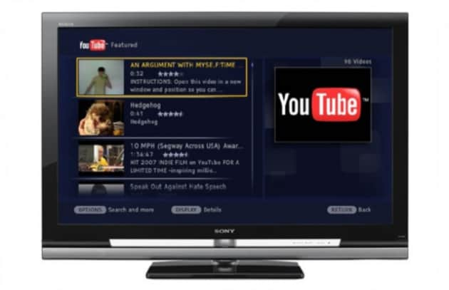 Con Bravia Internet Video di Sony, il web sbarca nella TV di casa