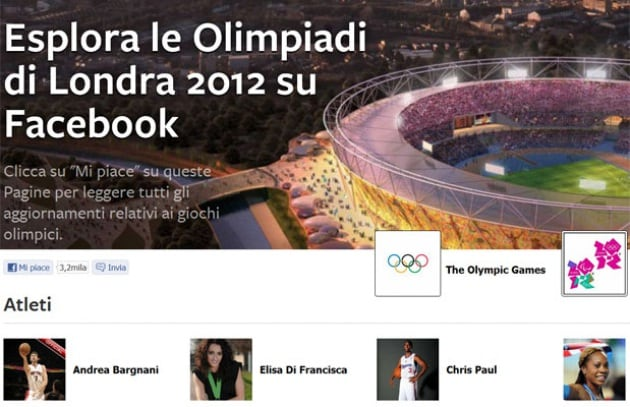 Facebook apre un hub per le olimpiadi di londra