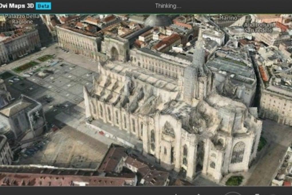 Il 3D nelle mappe di Nokia