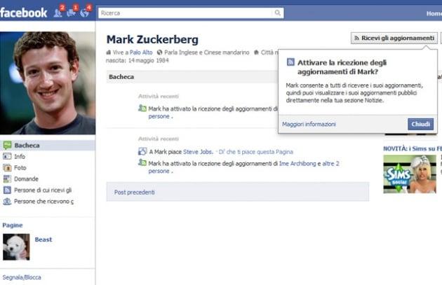 FB: Zuckerberg ha già 5 milioni di seguaci