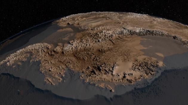 Come sarebbe l'Antartide se i ghiacci sparissero?
