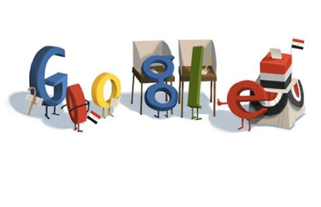 Google dedica un doodle alle elezioni in Egitto