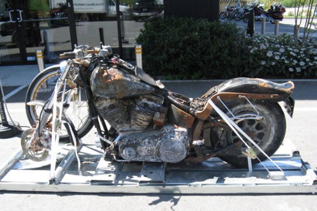 Harley Davidson dello tsunami finisce in un museo