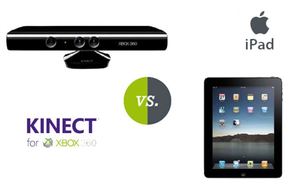 Kinect va a ruba e batte l'iPad