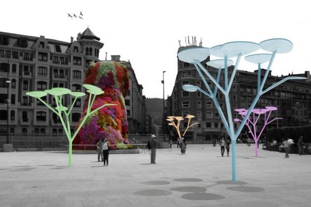 Utree albero fotovoltaico spagnolo per arredamento urbano for Arredamento in spagnolo