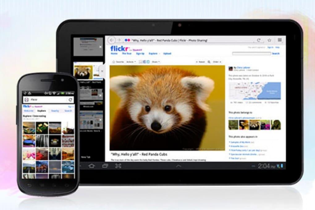 Firefox show sugli schermi dei tablet Android