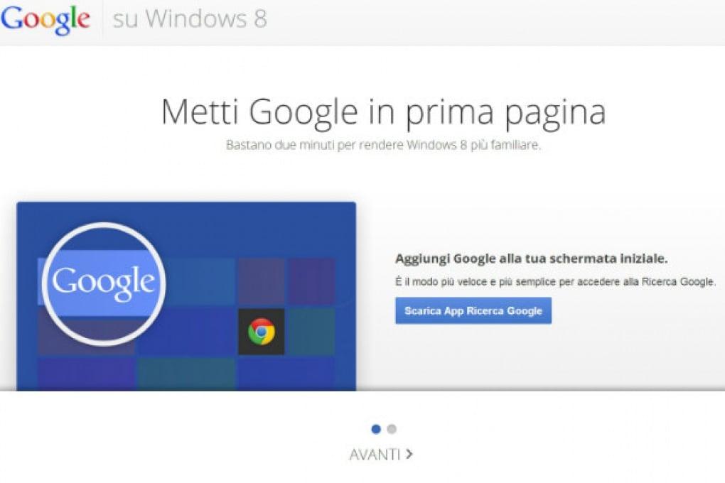 Niente Google Search in Windows 8 e RT?
