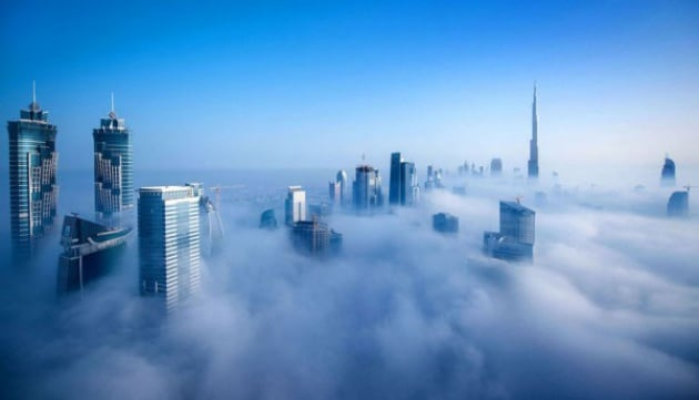 Nebbia a Dubai