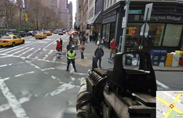 Street View come Call of Duty? Solo per poco