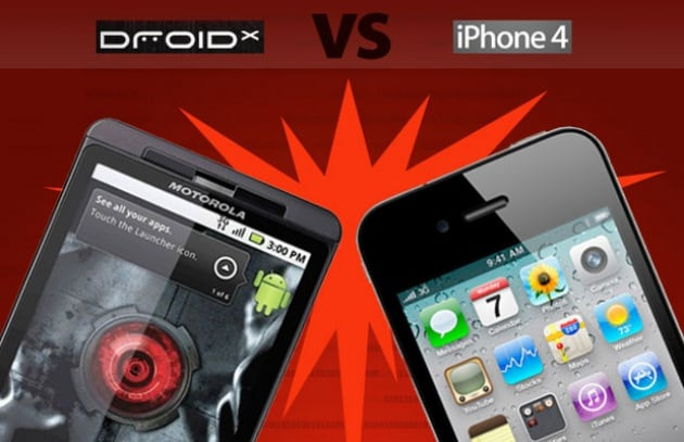 Motorola Droid X vs iPhone 4: la sfida