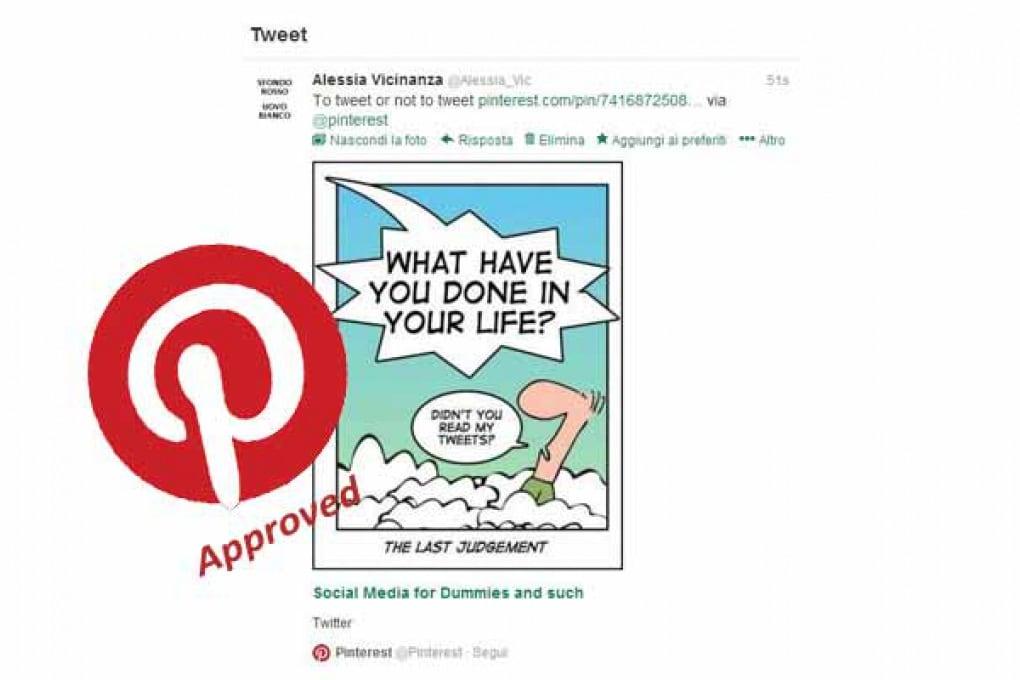 Pinterest sostituisce Instagram su Twitter