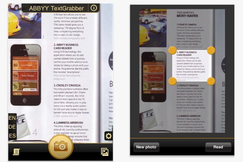 TextGrabber: prendi appunti con la fotocamera!