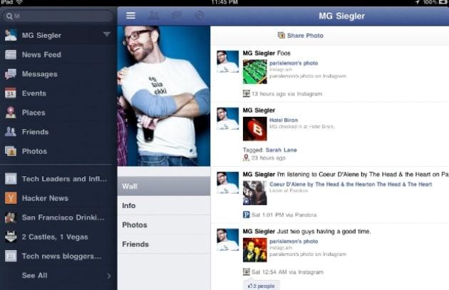 L'app per usare Facebook su iPad c'è già?