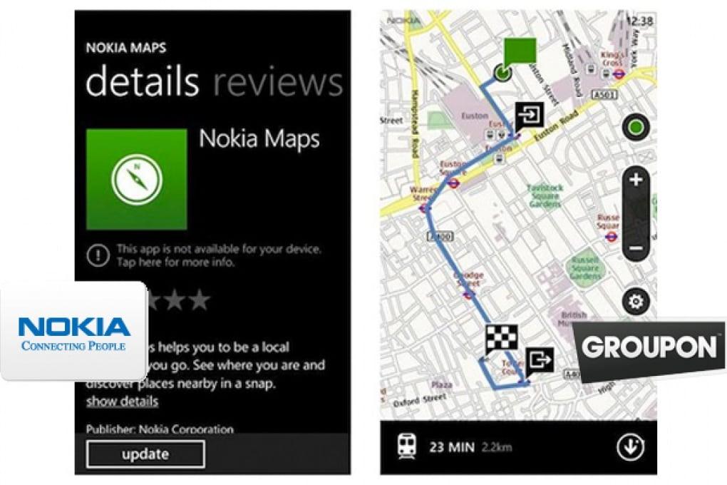 Nokia Maps 2.5 e spuntano le offerte di Groupon
