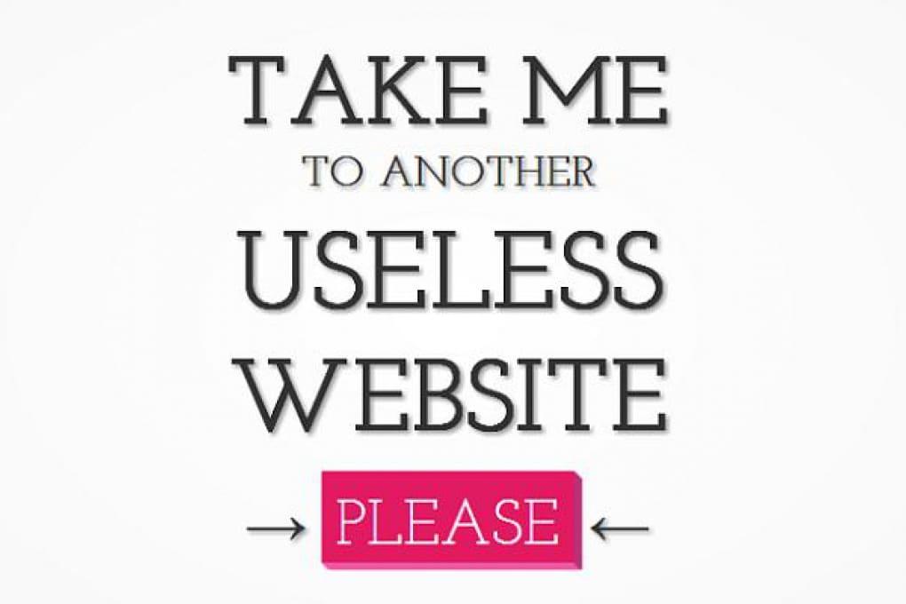 Non sai cosa fare? Esplora i siti più inutili del web!