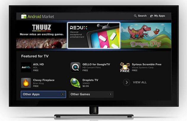 Google TV gioca il jolly Android Honeycomb