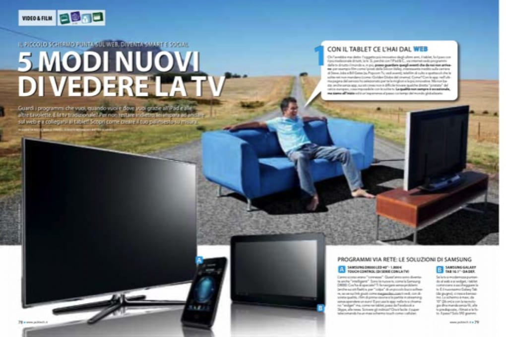 5 modi nuovi di vedere la tv