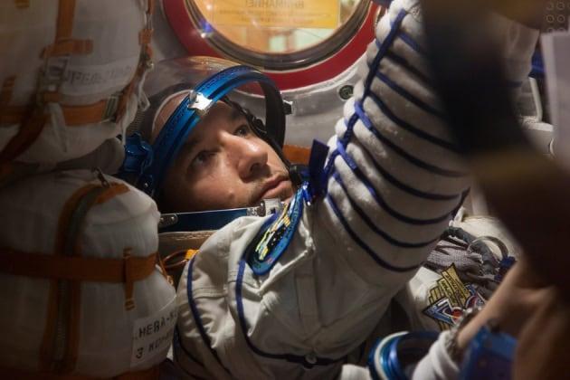 Luca Parmitano in partenza per la ISS