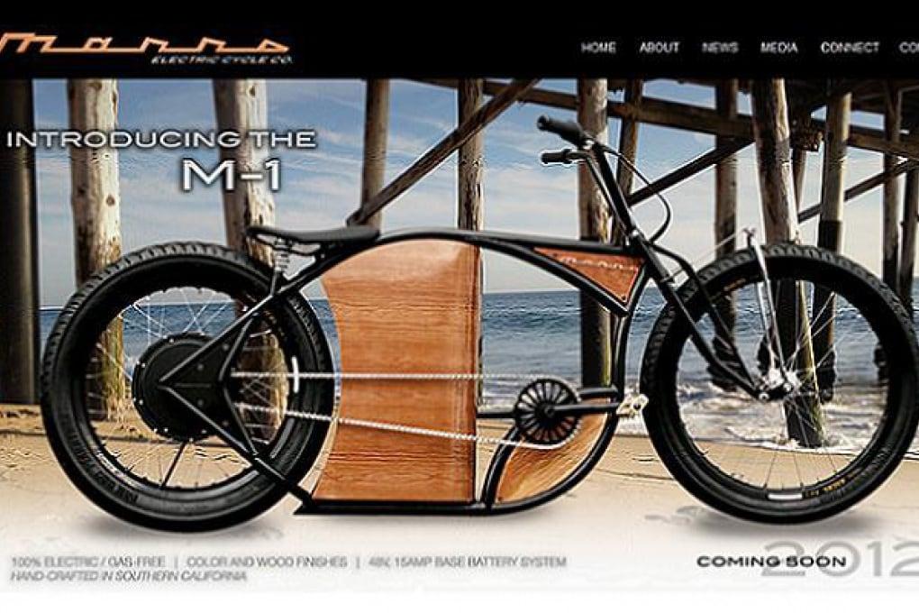 Bici elettrica che sembra una Harley Davidson