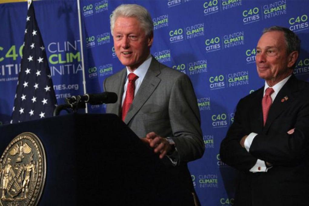 Bill Clinton e Bloomberg insieme per il clima