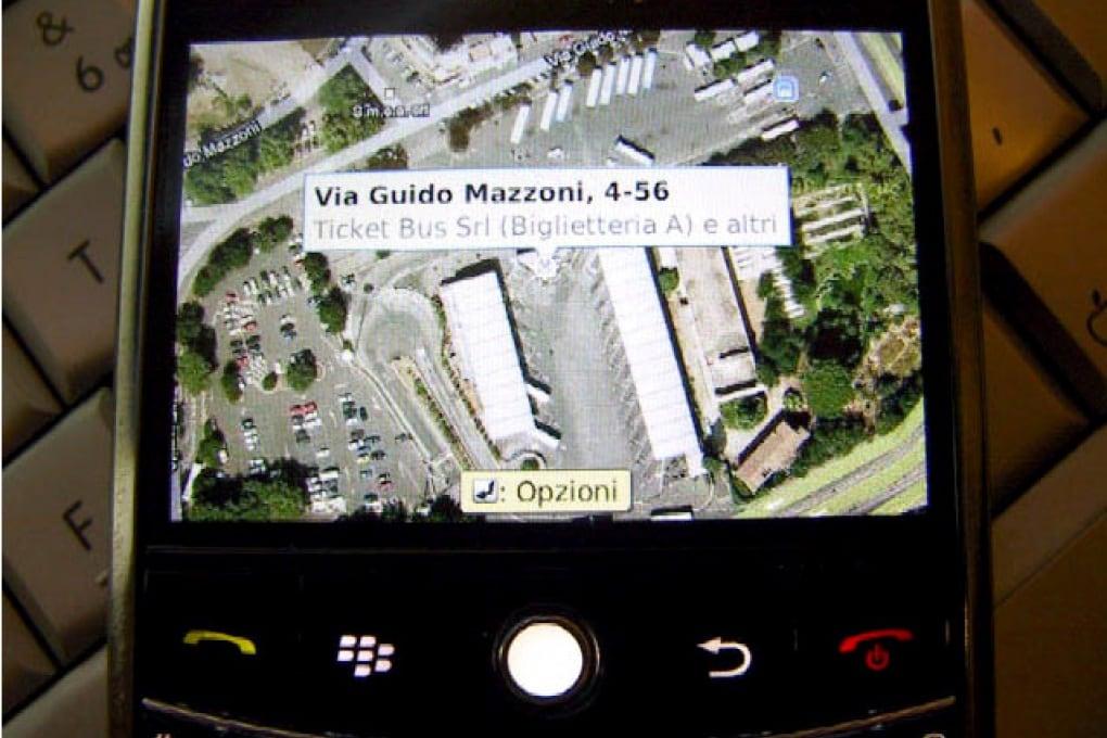 Il nuovo Google Maps per BlackBerry