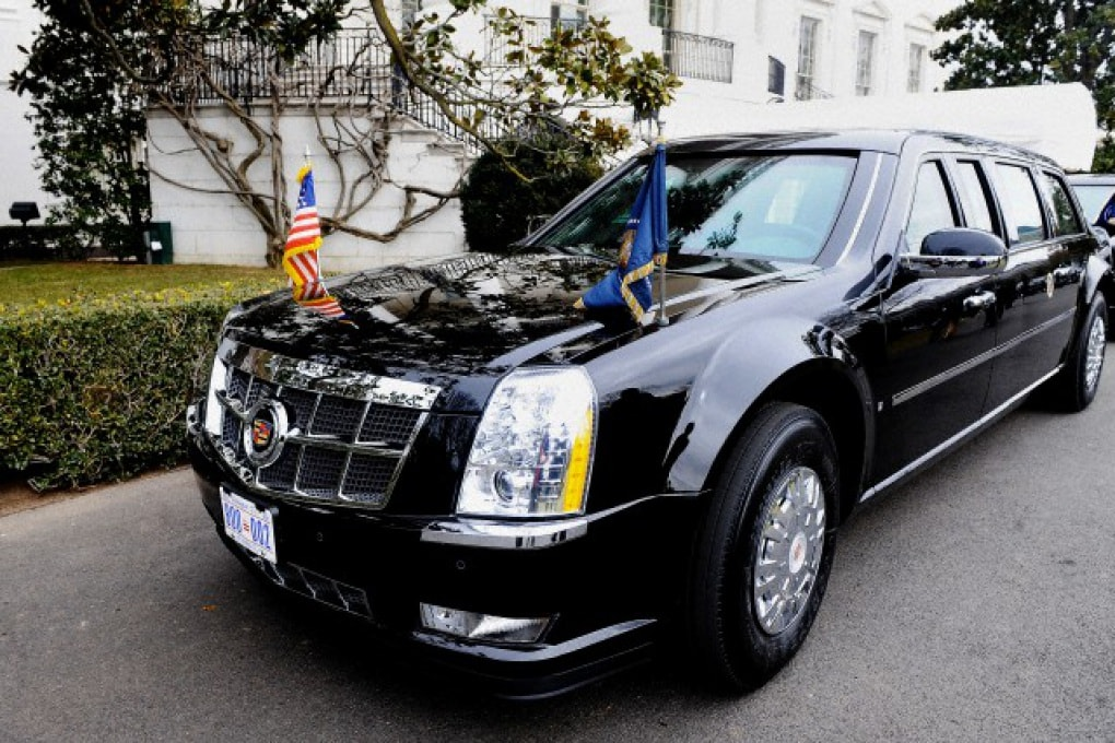 Barack Obama e la sua limousine