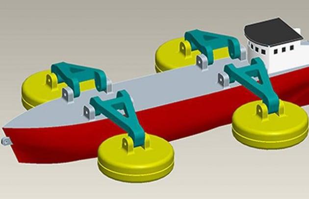 La nave che pesca elettricità