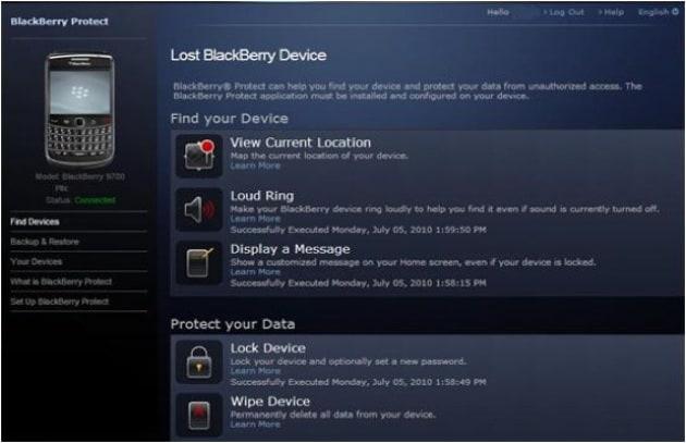 RIM: anche i BlackBerry vantano il backup on-line!