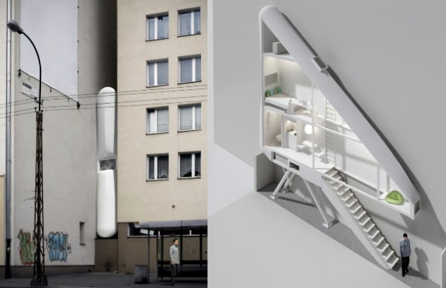 La casa sottiletta: vivere in verticale tra due palazzi