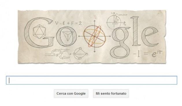 Un Doodle per Eulero, genio della matematica