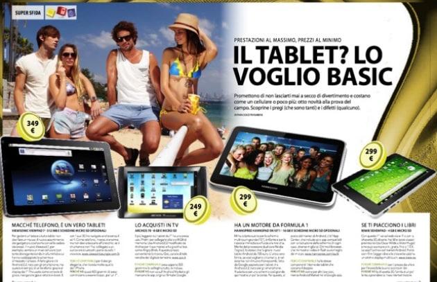 Il tablet? lo voglio basic