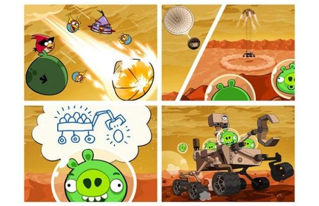 Angry Birds atterra su Marte. Che Curiosity!
