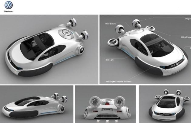 L'auto hovercraft e la moto elicottero
