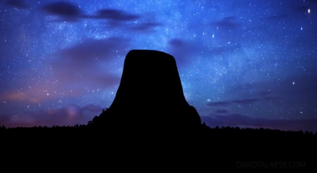 Orizzonti notturni in time-lapse