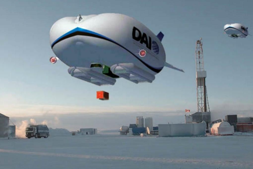 Il dirigibile che rifornisce il Polo Nord