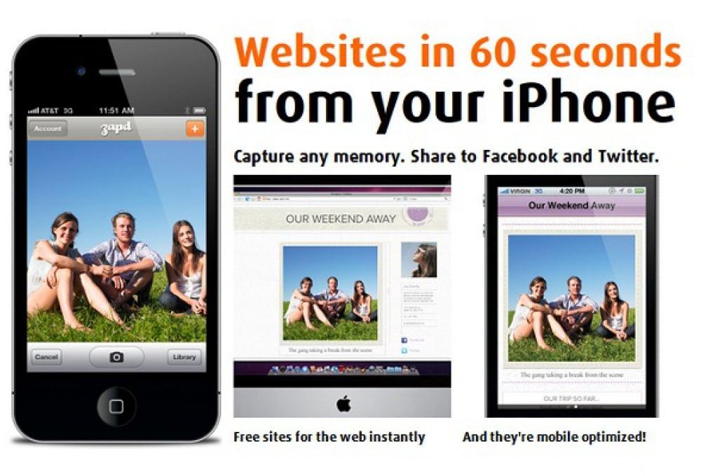Crea il tuo sito in 60 secondo con l'iPhone