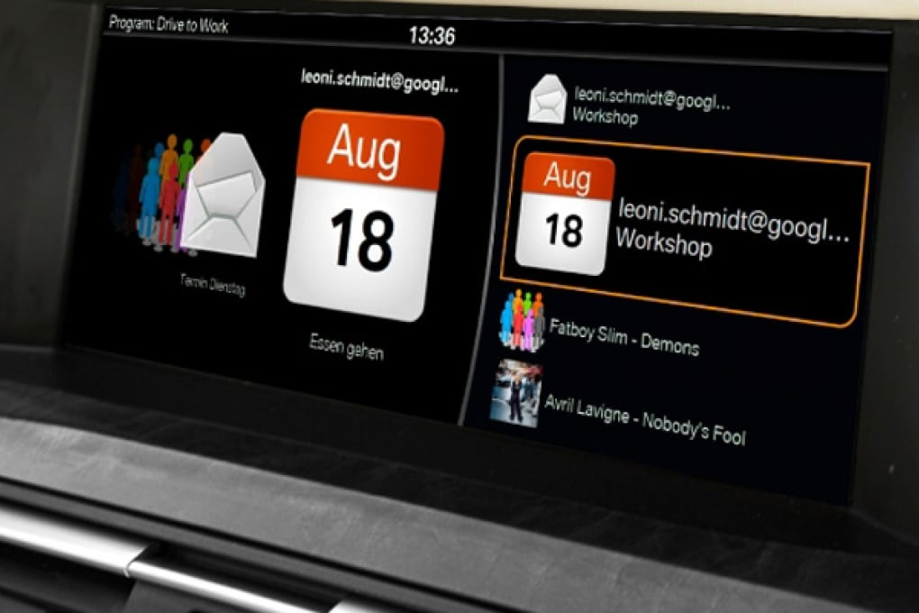 iPhone calendar sale a bordo delle BMW