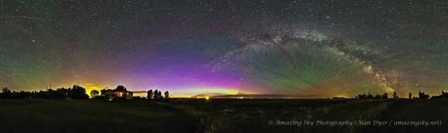 Aurore boreali e nubi nottilucenti: i cieli incredibili di Alan Dyer