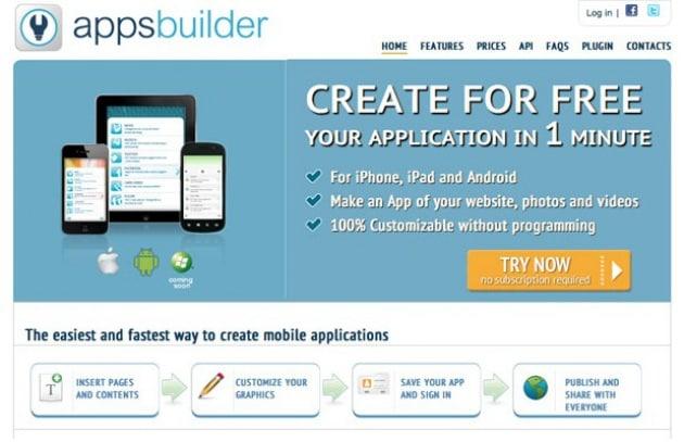 Crea la tua App in 3 passaggi con Apps Builder!