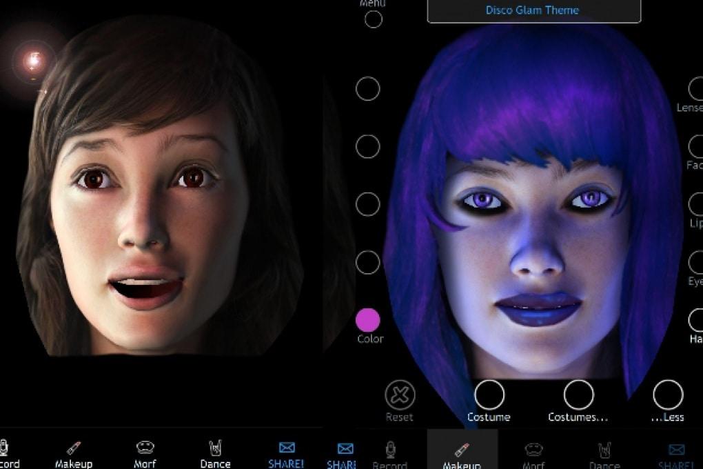 Una testa parlante in 3D, per iPhone e iPad