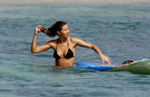 Gisele Bündchen regina del surf?